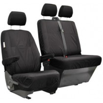 T6/T5 Black Waterproof Seat Covers - Second Row, Double Seat Genuine
