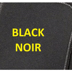 RIB 120 Black Fabric Fixed Arch 340mm by 200mm FORD TRANSIT HEIGHT/CORNER CUTOUT + ISOFIX  -  WEEK 06/2022