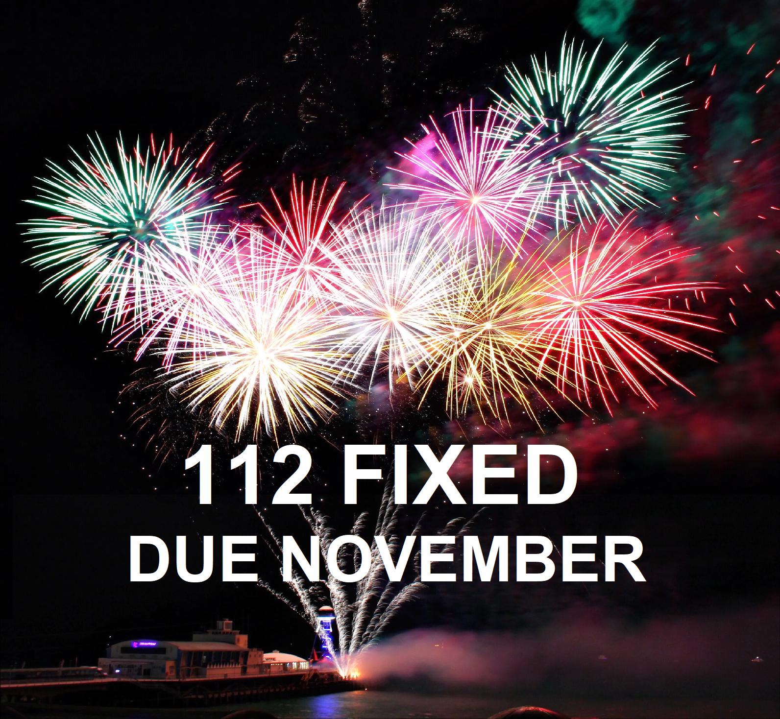 112 RIB Fixed Seats Due November