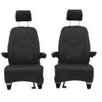 Seat Covers Black Waterproof Front Singles 1+1