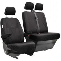 T6/T5 Black Waterproof Seat Covers - Second Row, Single Seat Genuine